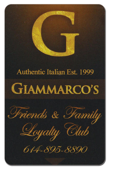 Giammarco's Italian Restaurant Kitchen Loyalty Club